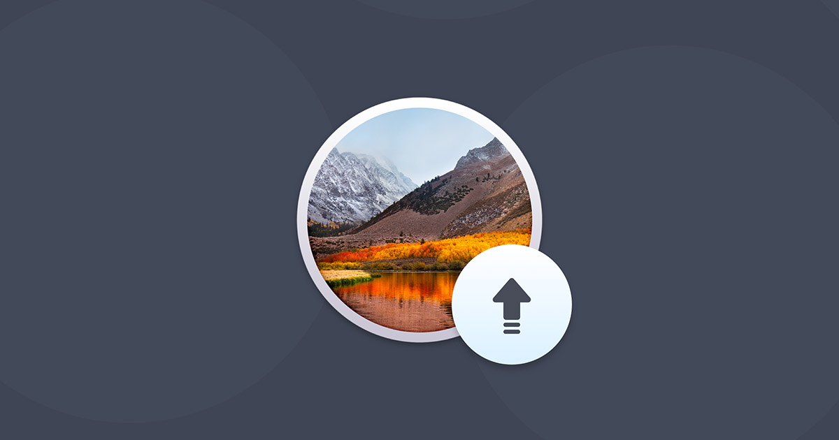 Upgrade from lion to high sierra