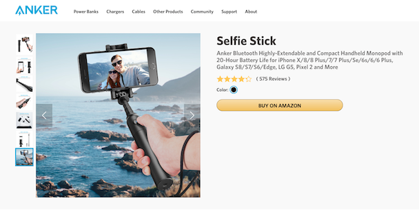 Anker, the best selfie stick for iPhone