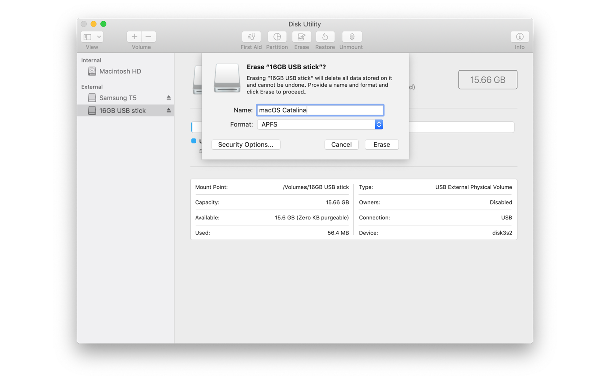 How to clean install macOS Catalina