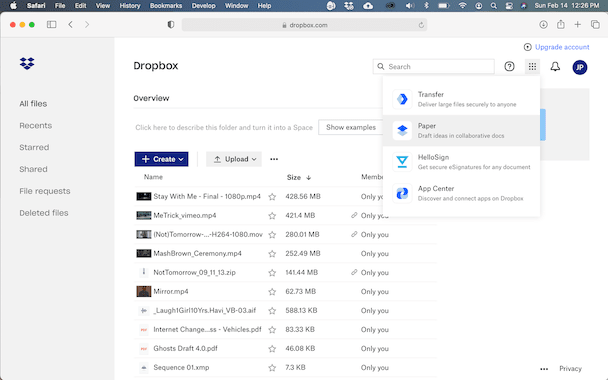 How to convert files to Dropbox Paper