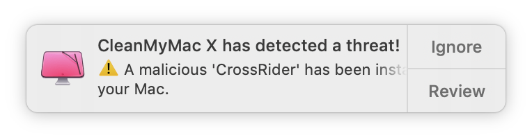 Crossrider virus on Mac