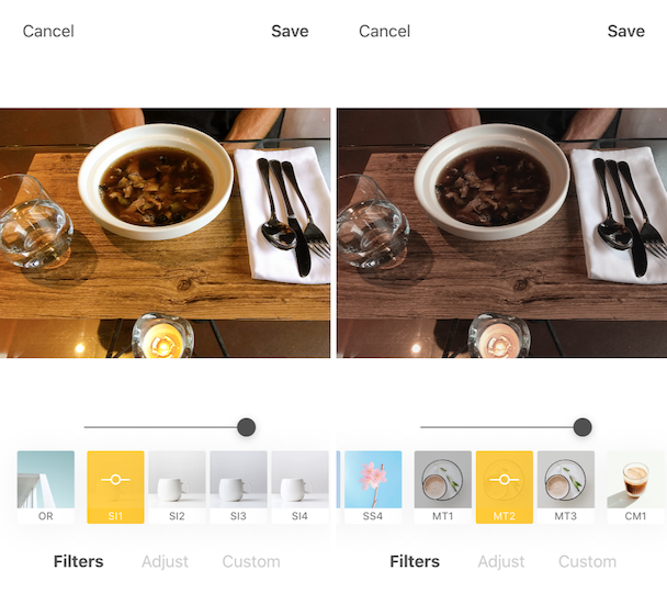 Foodie, the best Insta pic editor for food photographers