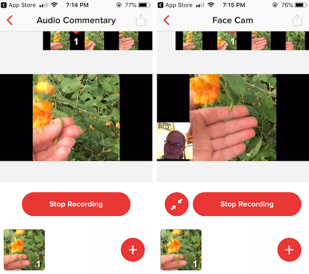 Screenshots of Go Record, a GIF screen recorder app for iPhone