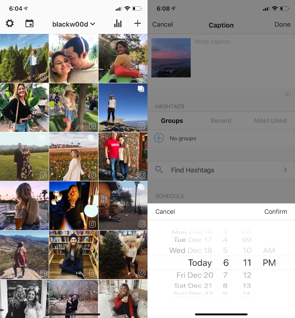How to schedule an Instagram post to post it at the best time