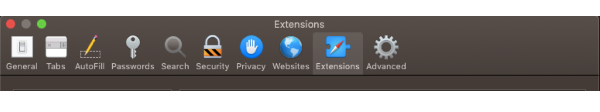 Removing Safari extensions