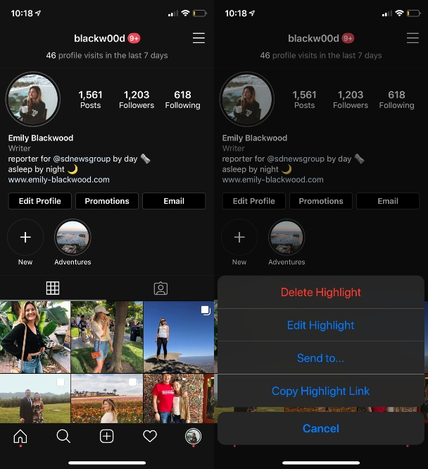 How to delete Instagram Highlights