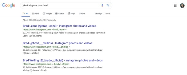 How to search on Instagram without an account