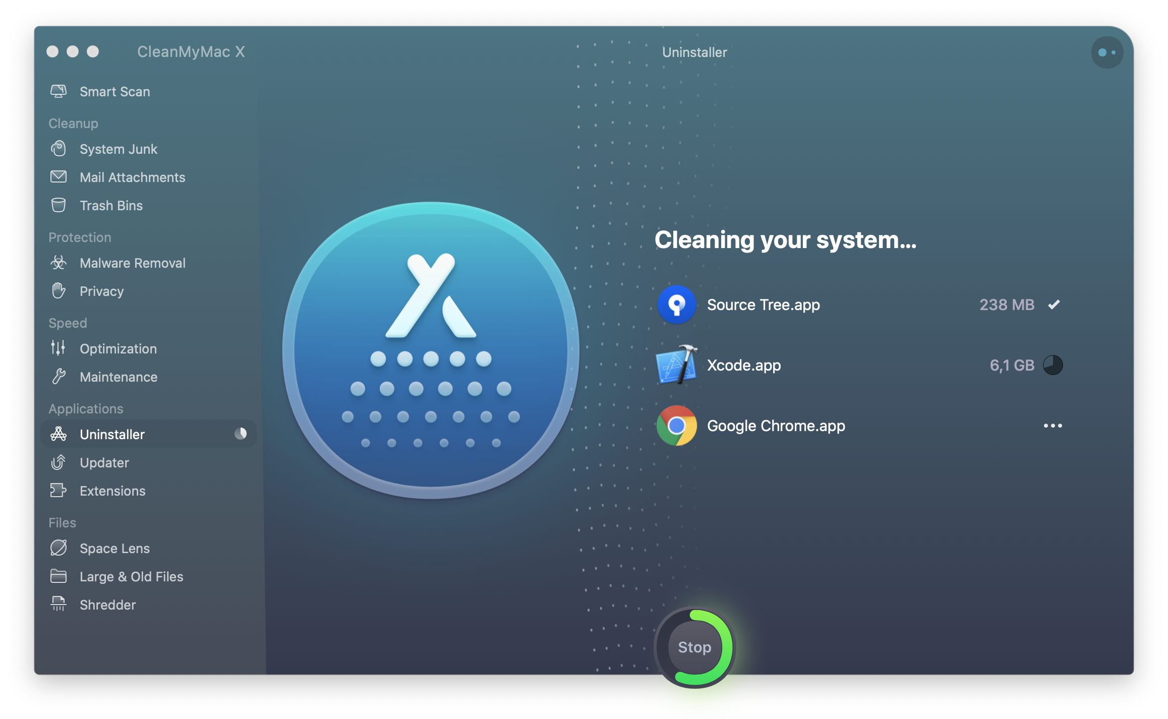 app uninstaller in CleanMyMac X