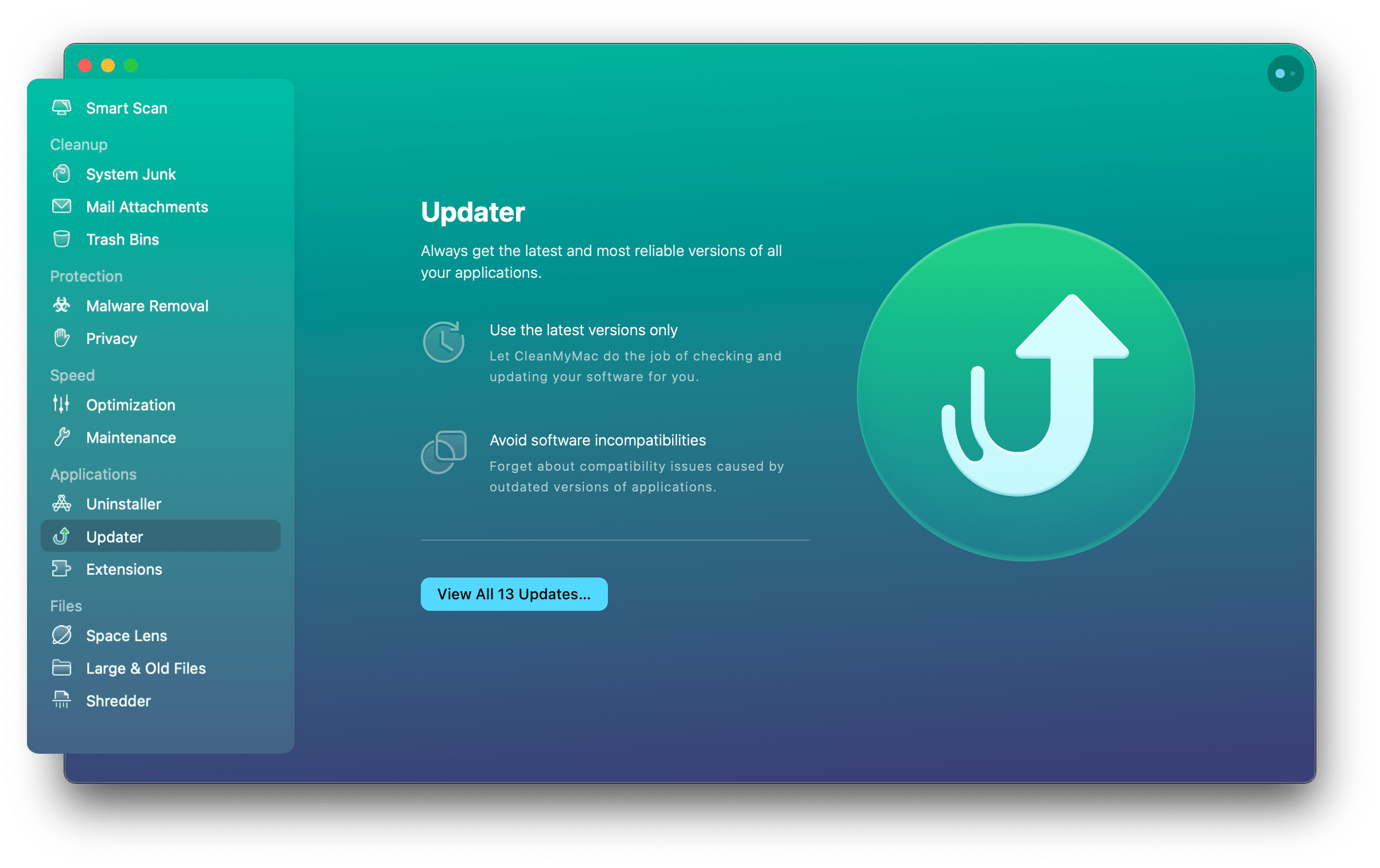 Mark apps you want to update