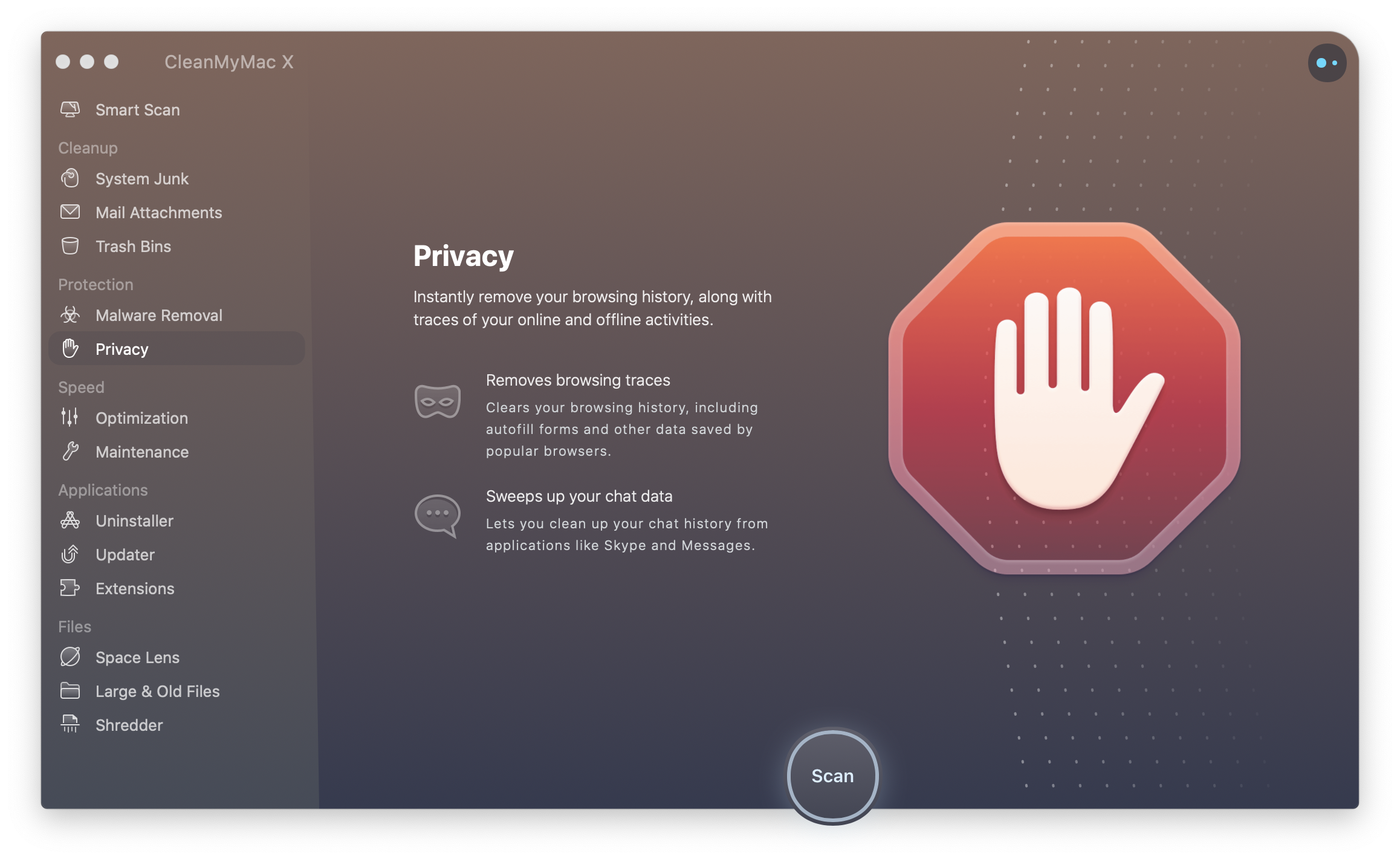 Privacy Module CleanMyMac