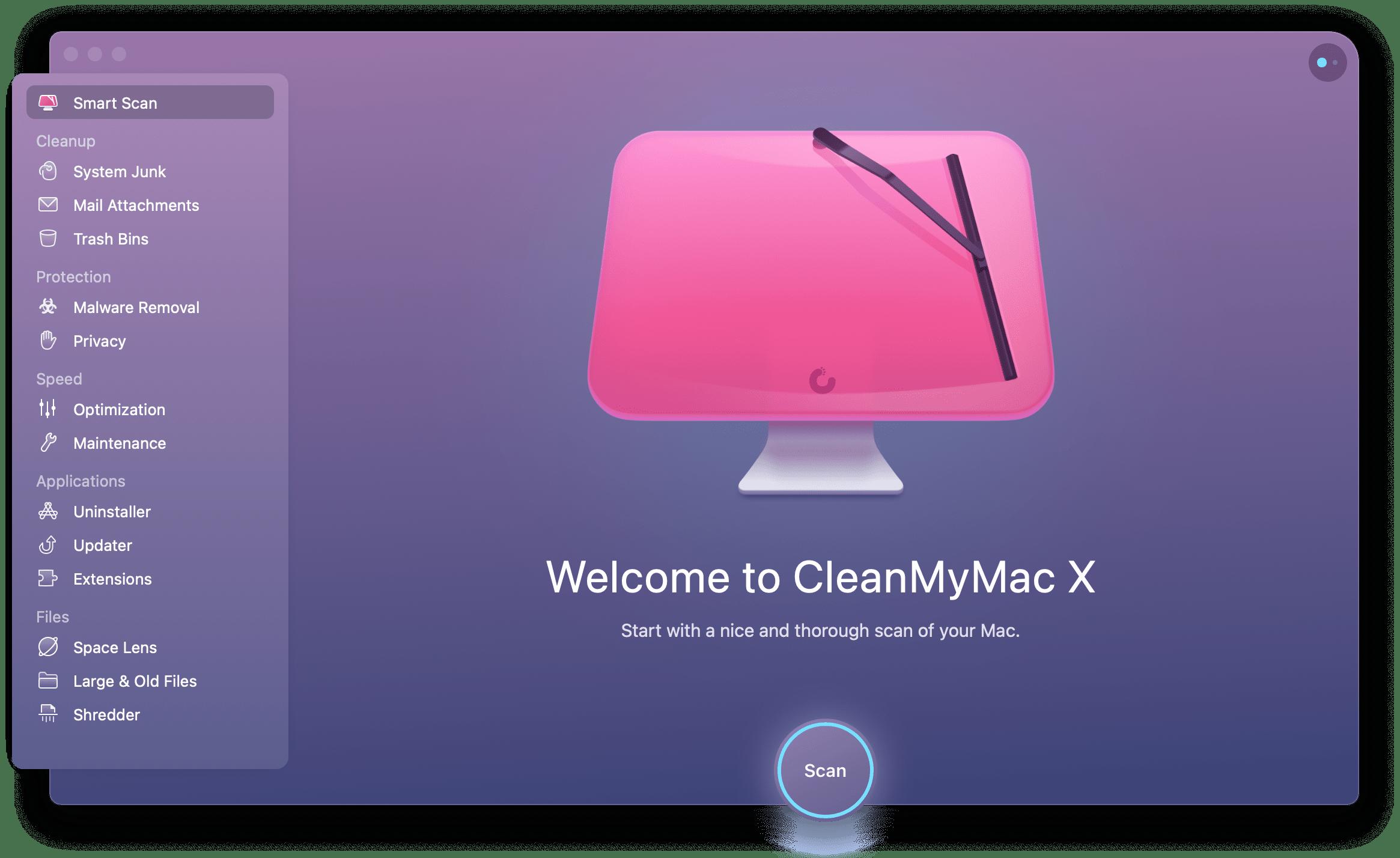 CleanMyMac X uninstaller utility