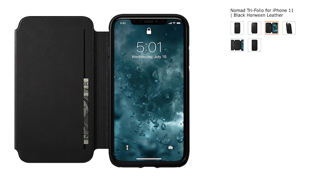 Nomad Rugged Tri-Folio, one of the best iPhone 11 wallet cases