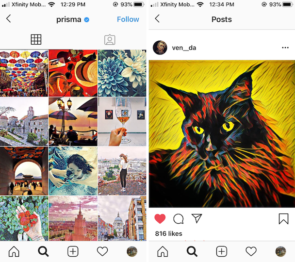 Prisma, an artsy picture editor for Instagram