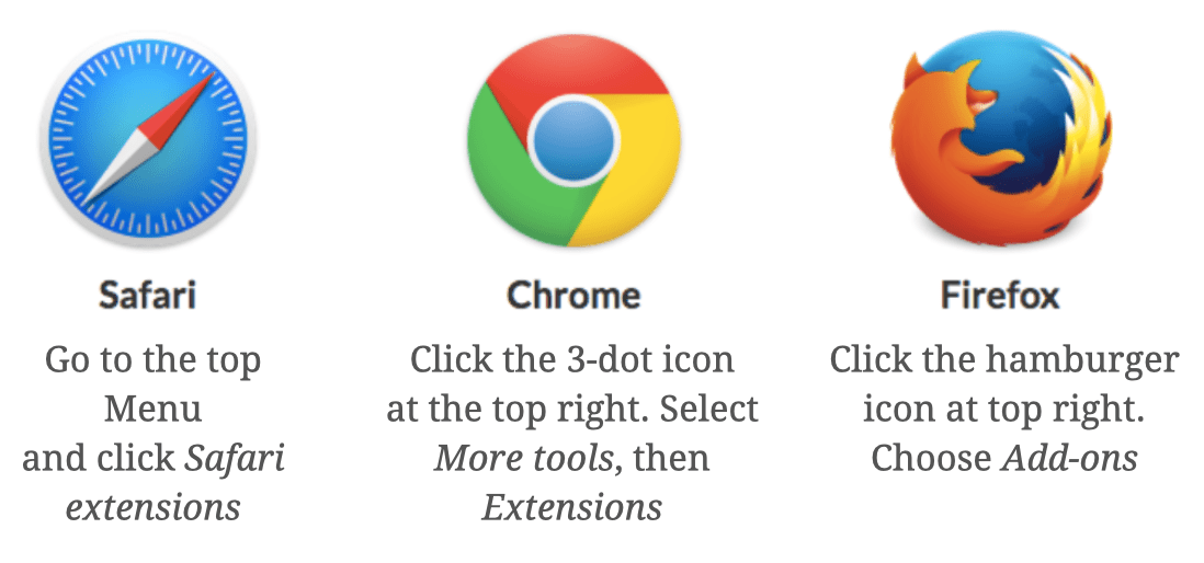 How to remove browser extensions