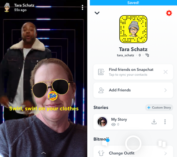 Screenshots: How to save a Snapchat Story