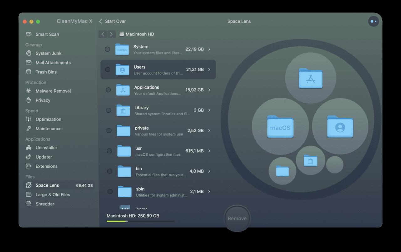 Manage storage on your Mac with CleanMyMac X