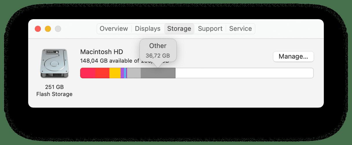 Other storage menu