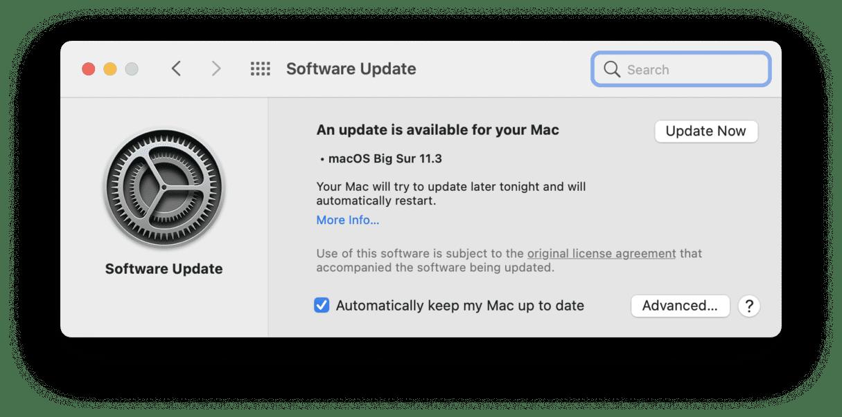 macos update mac operating system