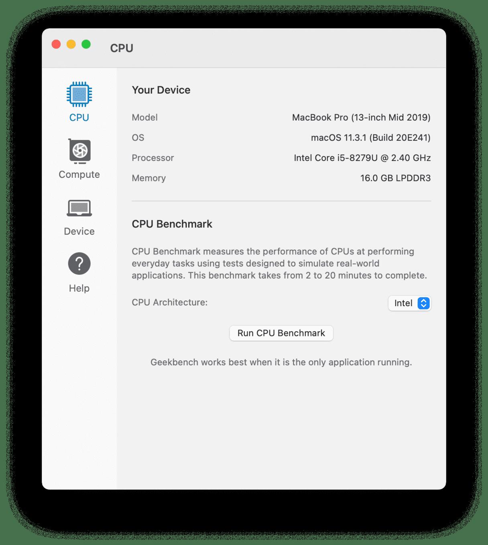 Run CPU Benchmarks with Geekbench 5