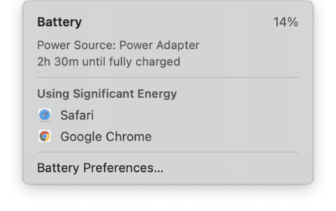 Check and change Battery Settings