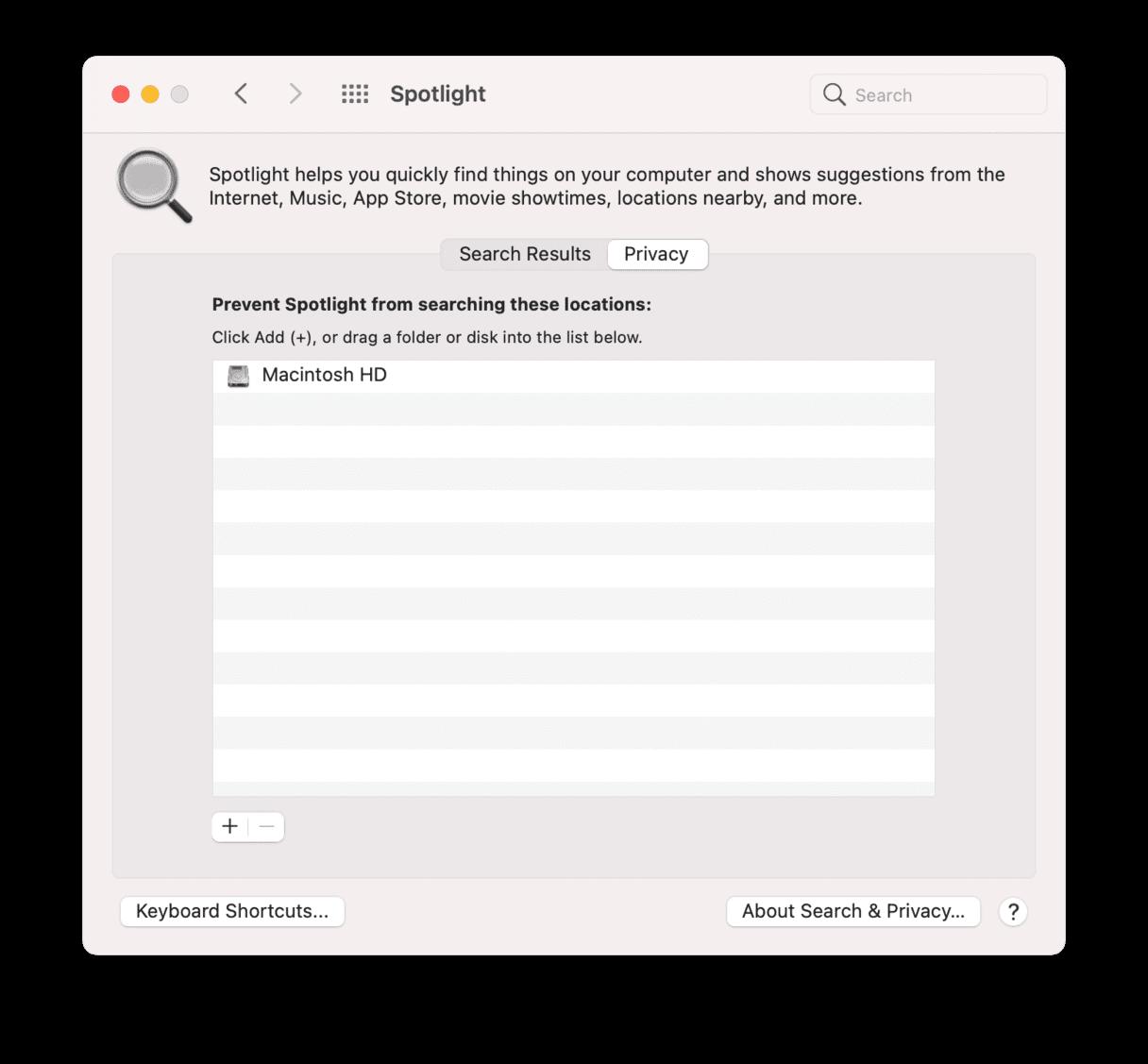 How to speed up Mac: reindex spotlight
