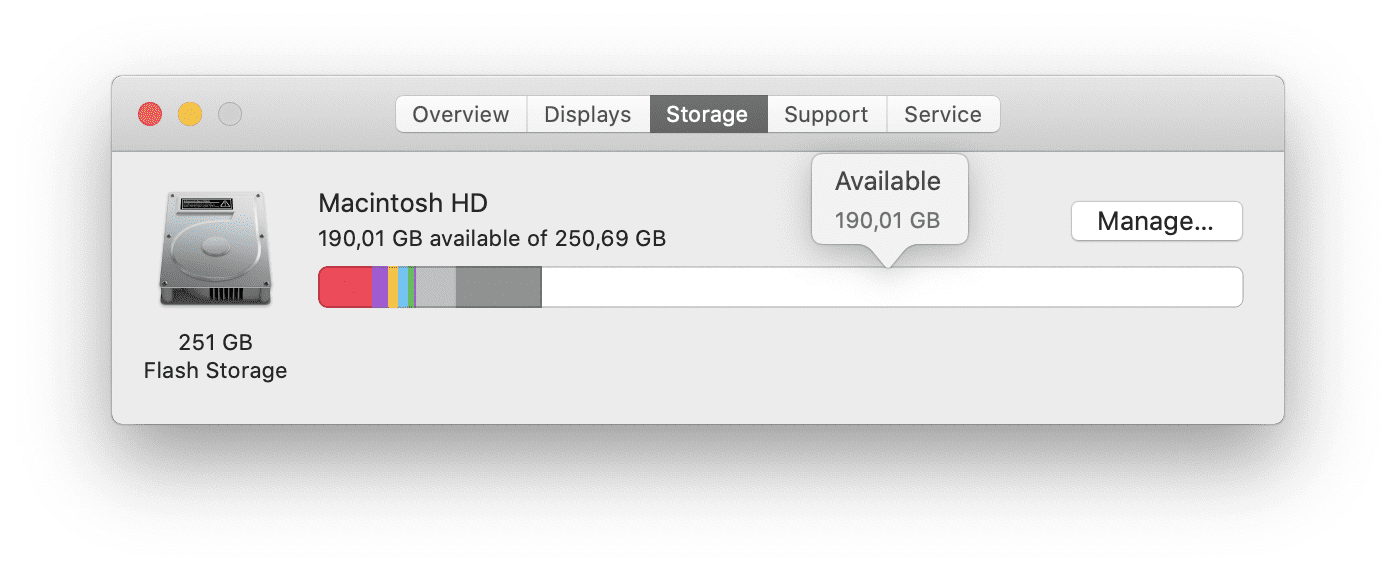 How to check storage on Mac