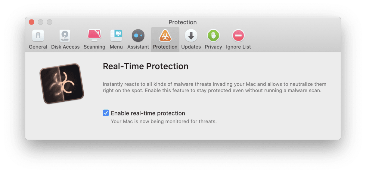 Enable real-time protection on your Mac
