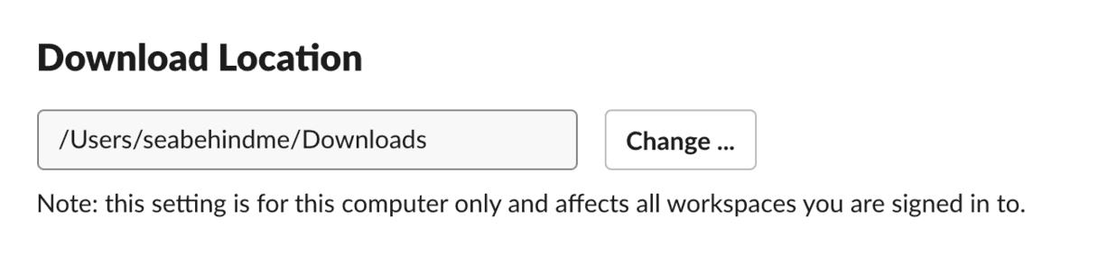 Locate and delete Slack downloads