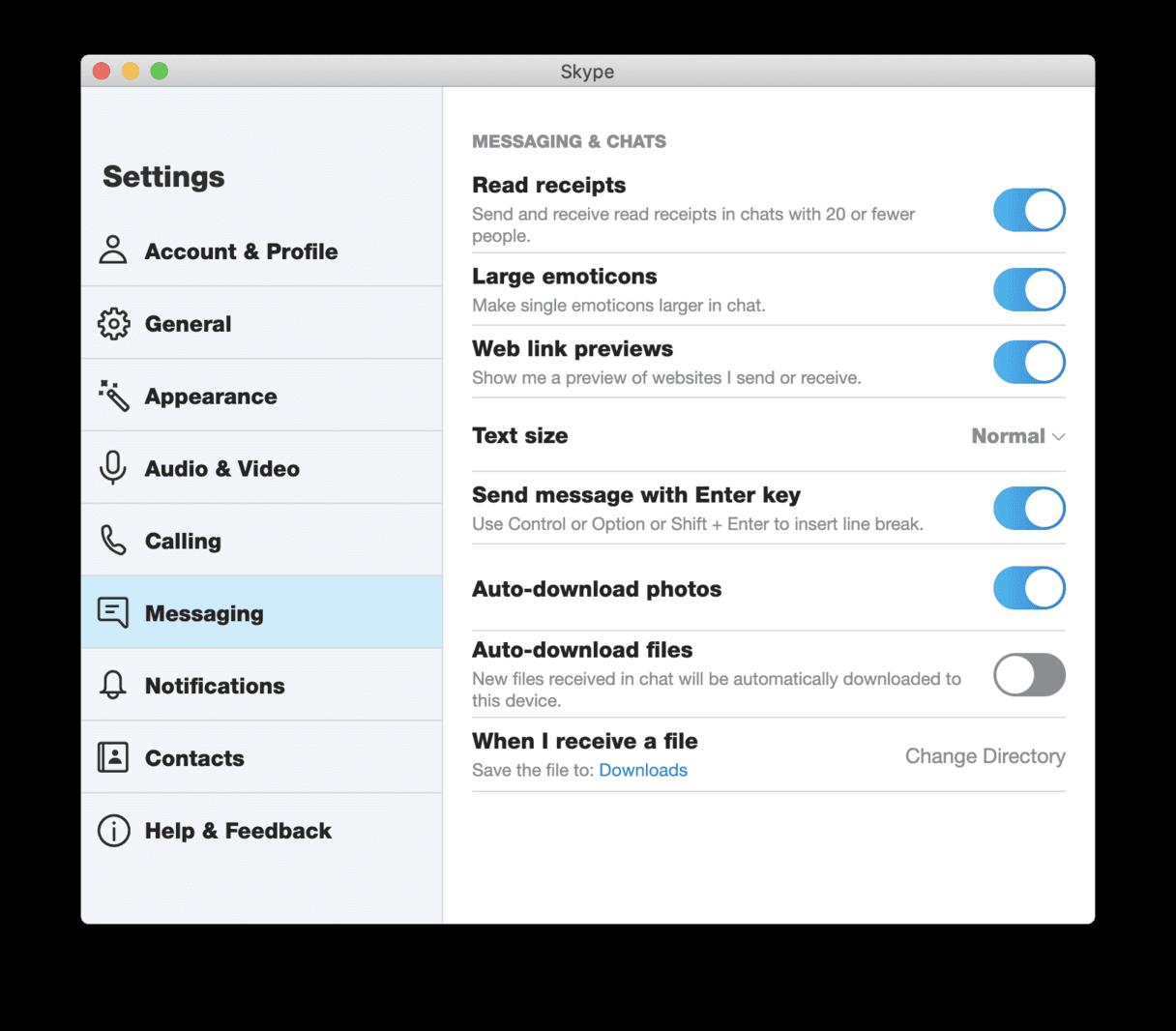 Locate and delete Skype downloads