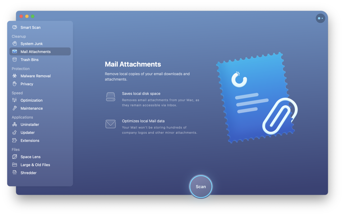 Repair Mail settings with CleanMyMac X