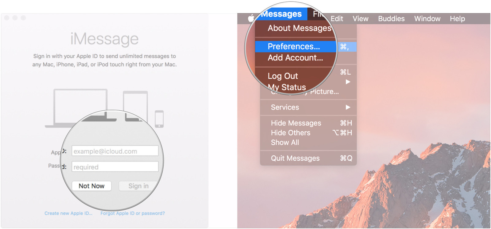 How to set up iMessages on a Mac