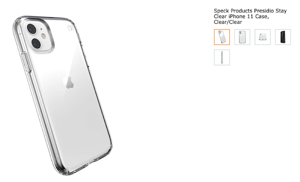 Speck Presidio, one of the top clear cases for iPhone 11