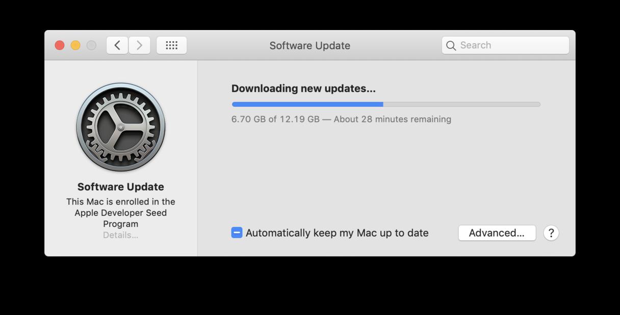 macOS Big Sur installation stuck on 12.18 GB