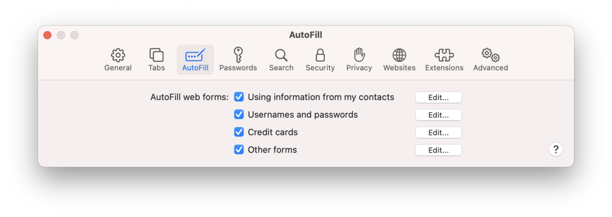 Fix Slow Safari: Autofill data