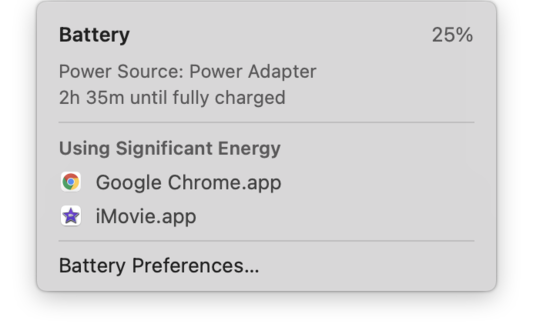Check battery health on MacBook
