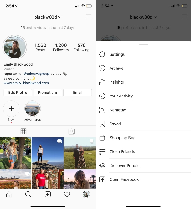 How to access Instagram Insights in the iOS app