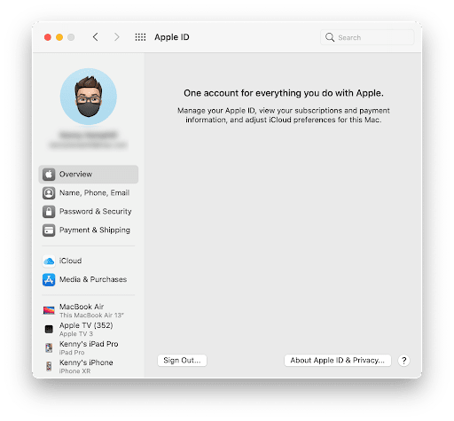 Apple ID window