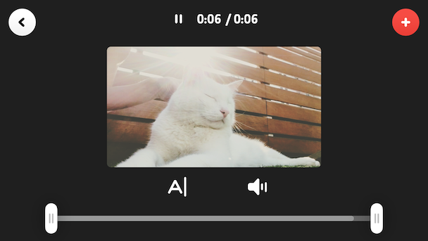 Cameo, a simple iPhone video editor