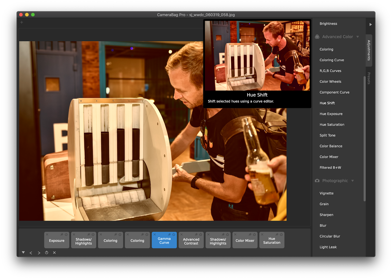 CameraBag Pro, a photo and video editing app for Mac