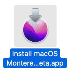 macOS Monterey installer icon