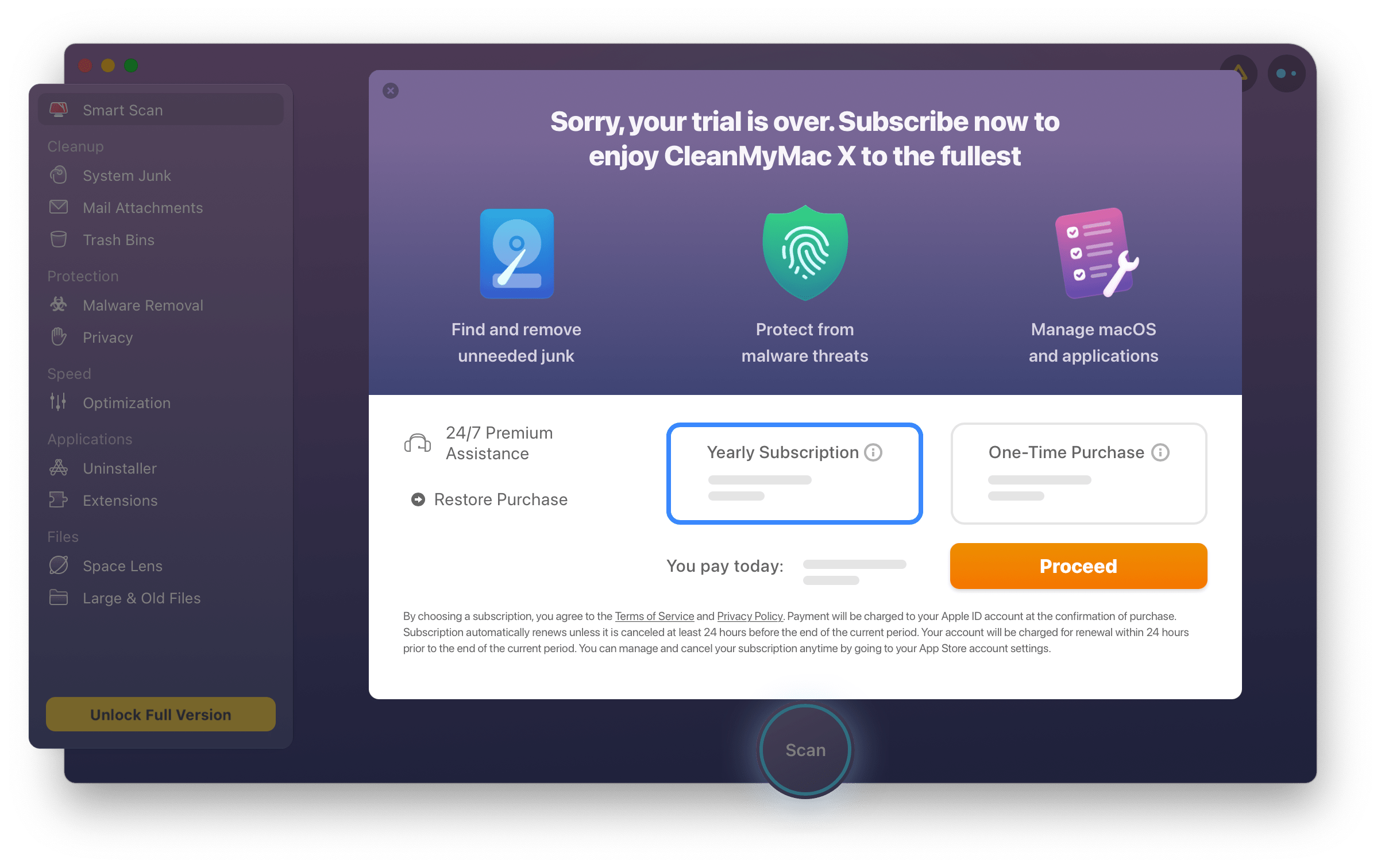 Activating the App Store version of CleanMyMac X