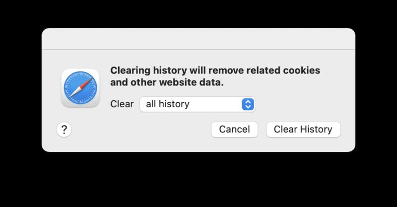 Safari not working solution - Remove Safari history