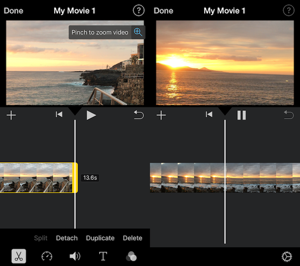 How to crop a video in iMovie
