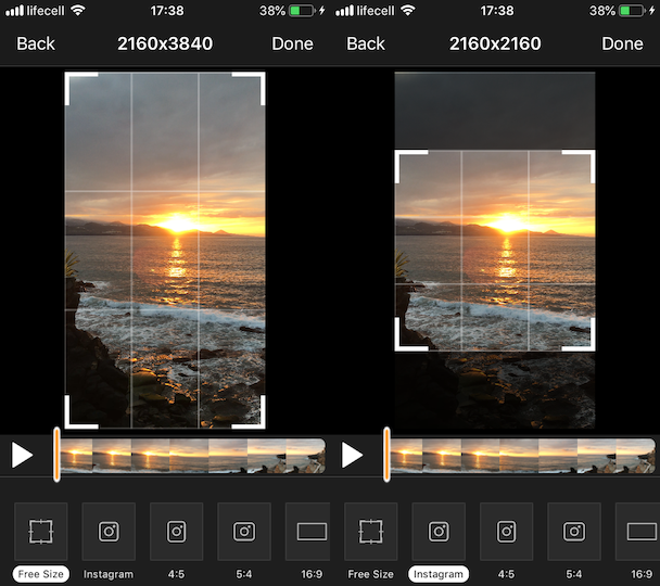 How to crop a video for Instagram