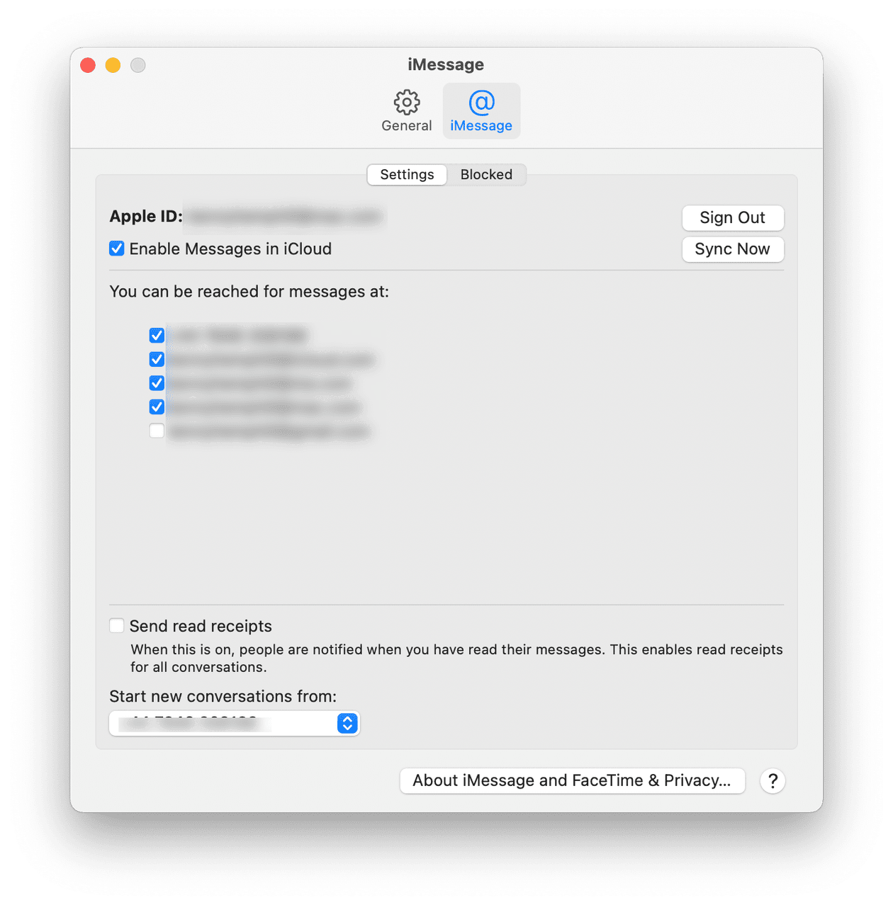 How to disable messages in iCloud