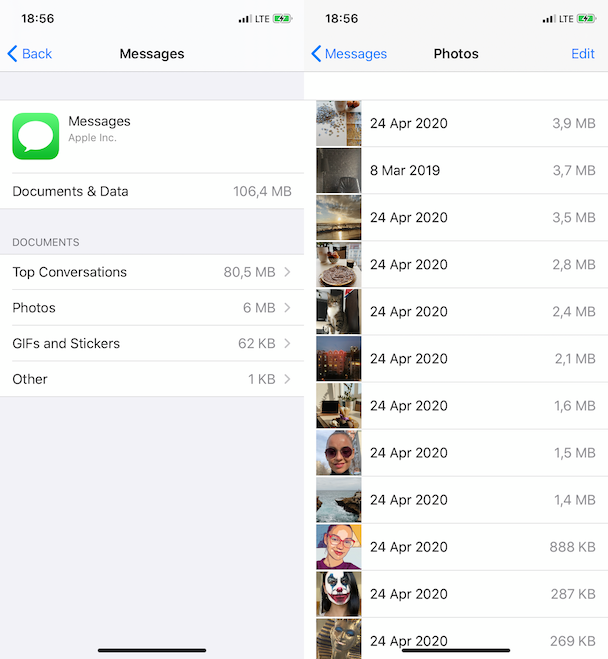 How to remove Messages attachments to clear space on iPhone