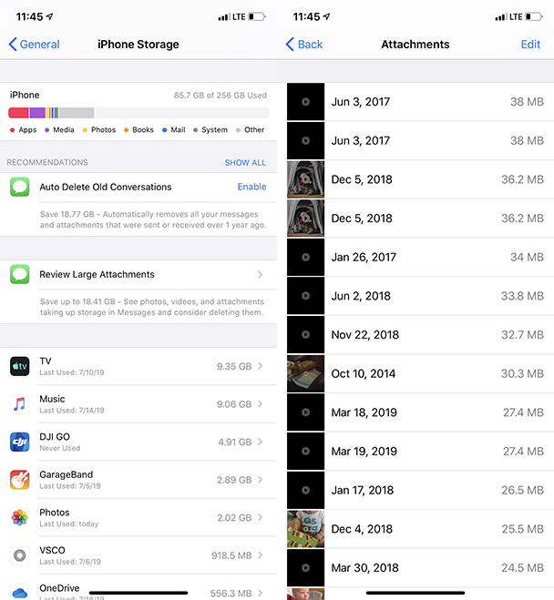 How to delete message attachments on iPhone