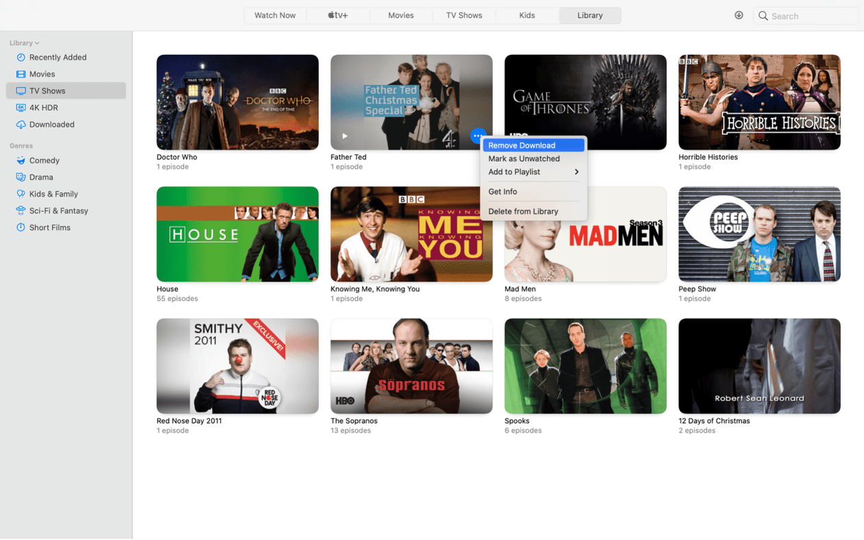 How to find and delete movies from Apple TV