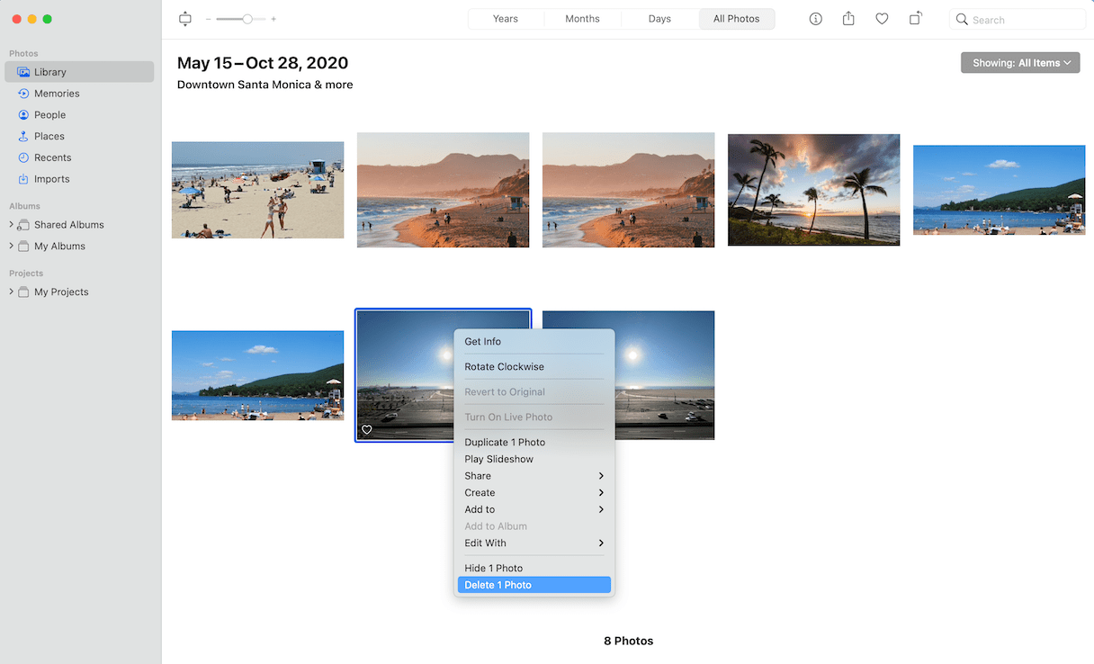 How to delete photos from Photo library
