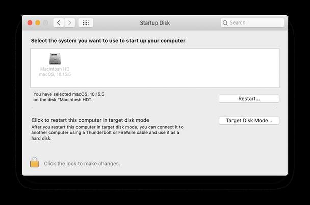 Hard drive menu